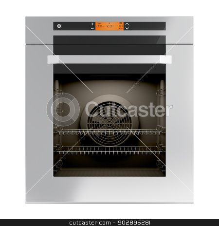 Built-in oven stock photo, Built-in oven isolated on white by Mile Atanasov