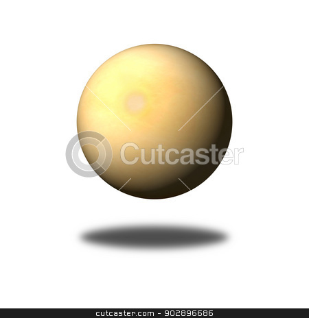 Old Paper Globe stock photo, A sphere build from an old paper on white background with shadow. by Henrik Lehnerer