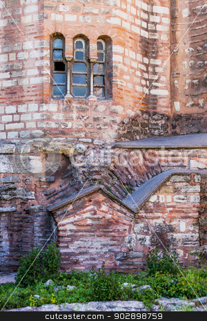 Detail of Chora Church stock photo, Exterior detail of Istanbul Chora Church by Scott Griessel