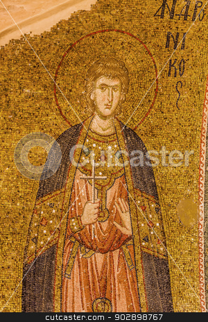 Saint Saviour Mosaic stock photo, Saint saviour Mosaic at Chora Church by Scott Griessel
