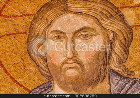 Jesus Mosaic stock photo, Jesus Mosaic in Istanbul Chora Church by Scott Griessel