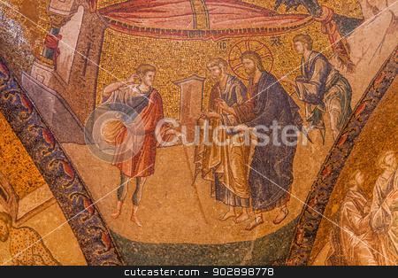 Jesus Healing the Deaf Man stock photo, Healing the Deaf Man at Chora Church by Scott Griessel