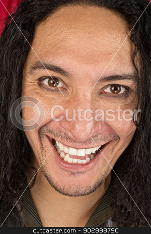 Hysterical Laughing Man stock photo, Close up of hysterical adult male laughing by Scott Griessel