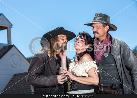 Western Character Trio stock photo, Three Western Characters by Scott Griessel