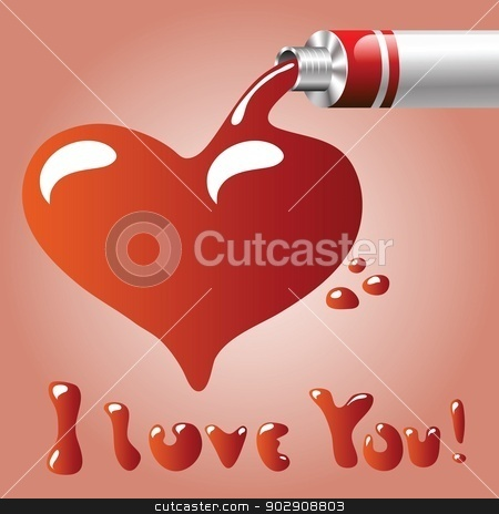oil paint heart stock vector clipart, colorful illustration with oil paint heart  for your design by valeo5