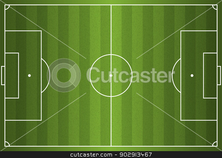 Realistic Vector Football - Soccer Field stock vector clipart, A realistic textured grass football / soccer field. Vector EPS 10. File contains transparencies. by Jason Enterline