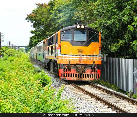 Train in thailand stock photo, Train in thailand by doraclub