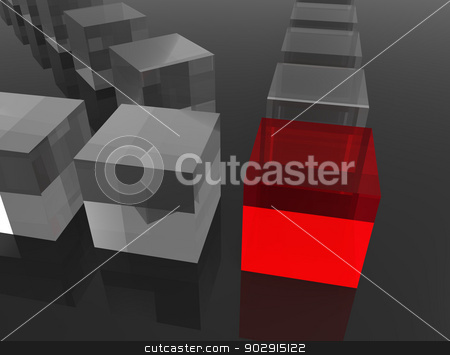 Company stock photo, Concept for leadership. Digitally generated image. by Bratovanov