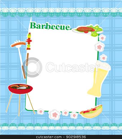 barbecue party invitation stock vector