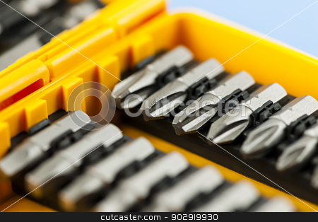 Screwdriver insert bits stock photo, Closeup on screwdriver insert bits of various sizes by Elena Elisseeva