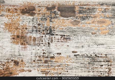 Old painted wood texture stock photo, Old weathered chipped painted wood texture as grunge background by Elena Elisseeva