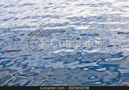Blue water surface stock photo, Abstract background of blue water surface with ripples by Elena Elisseeva