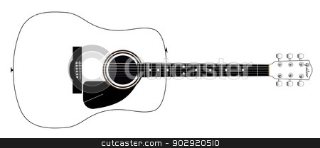 Acoustic Guitar stock vector