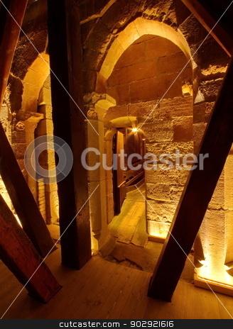 Inside Saint-Pierre cathedral, Geneva, Switzerland stock photo, Doorway to north tower inside Saint-Pierre cathedral, Geneva, Switzerland by Elenarts