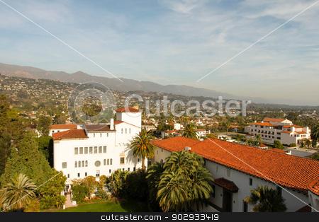 Santa Barbara stock photo, View over the city of Santa Barbara by Henrik Lehnerer