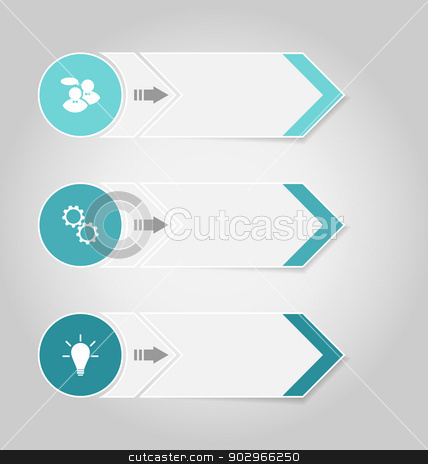 Set modern design banners with infographics elements stock vector