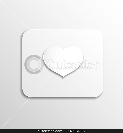Heart from paper for Valentines day stock vector clipart, Illustration heart from paper for Valentines day - vector  by -=Mad Dog=-