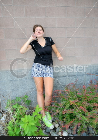 Female beauty. stock photo, Female beauty expressions outside. by OSCAR Williams