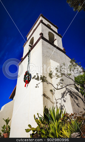 Mission San Buenaventura Ventura California  stock photo, Mission San Buenaventura Ventura California.  Founded 1782 by  Father Junipero Serra.  Named for Saint Bonaventure by William Perry