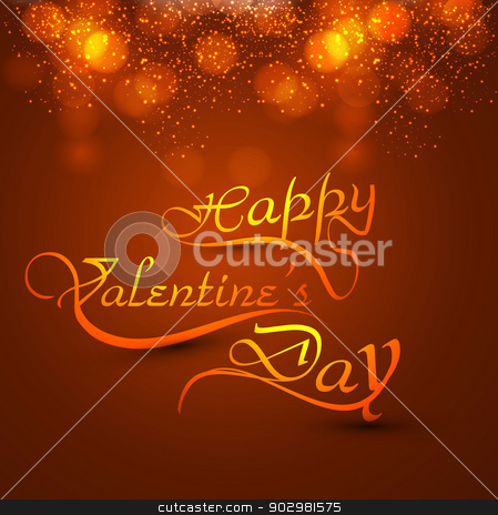 Beautiful card valentine's day with calligraphy colorful text de stock vector clipart, Beautiful card valentine's day with calligraphy colorful text design vector by bharat pandey