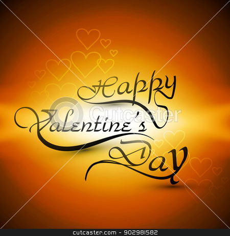 Happy Valentine's day card for lettering text vector colorful ba stock vector clipart, Happy Valentine's day card for lettering text vector colorful background  by bharat pandey