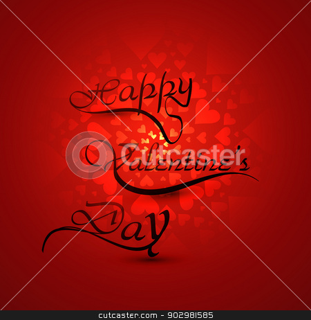 Happy Valentine's day hearts card with lettering text colorful b stock vector clipart, Happy Valentine's day hearts card with lettering text colorful background vector by bharat pandey