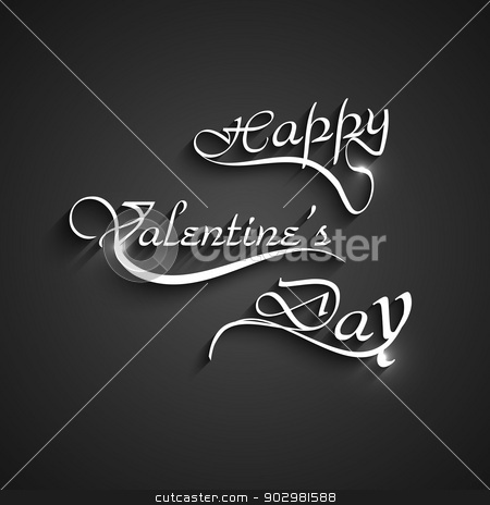 Happy Valentine's day card with lettering shiny text vector stock vector clipart, Happy Valentine's day card with lettering shiny text vector by bharat pandey