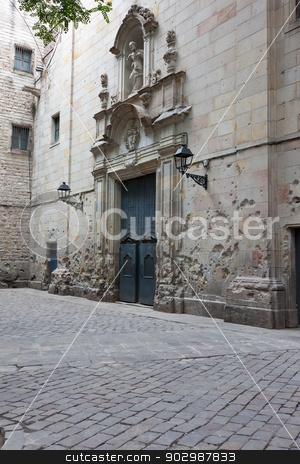 Barrio Gotico stock photo, Ancient streets of Gotic quarter in Barcelona, Spain by Alexey Popov