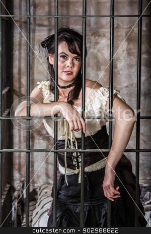 Portrait of Female Prisoner stock photo, Portrait of a Female Prisoner in the Old West by Scott Griessel