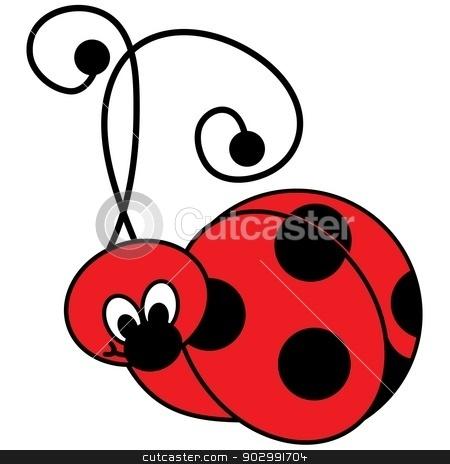 Cute Ladybug Illustration stock vector clipart, Vector Illustration of a cute Ladybug by KFortenberry