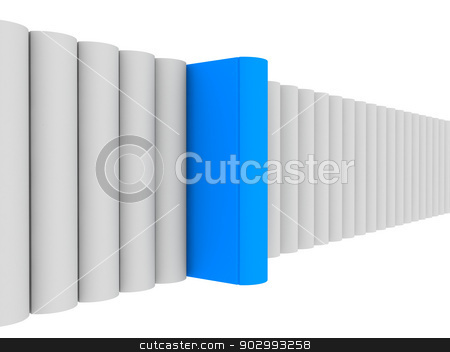 3d render of blue unique book with clipping path stock photo, conceptually 3d render of unique color of blue to show individuality by Vaibhav Jain