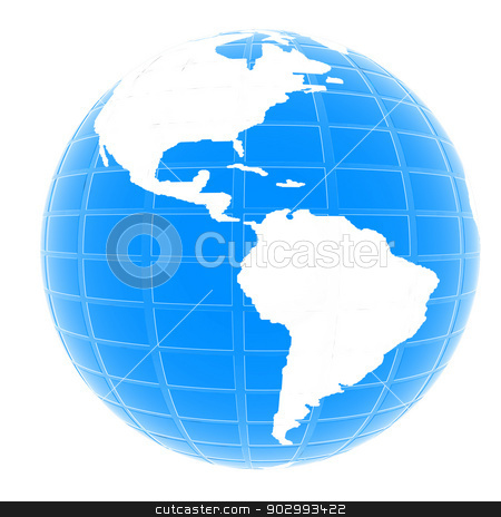 Earth stock photo, Earth Isolated on white background by Guru3D
