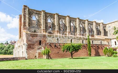 San Galgano Abbey stock photo, Italy, Tuscany region. Medieval San Galgano Abbey. by Paolo Gallo