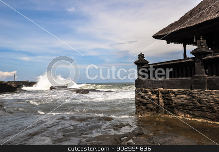 Tanah Lot Temple on Sea in Bali Island Indonesia stock photo, Tanah Lot Temple on Sea in Bali Island, Indonesia by Thomas Jahn