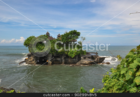 Tanah Lot Temple Sea in Bali Island Indonesia stock photo, Tanah Lot Temple Sea in Bali Island, Indonesia by Thomas Jahn