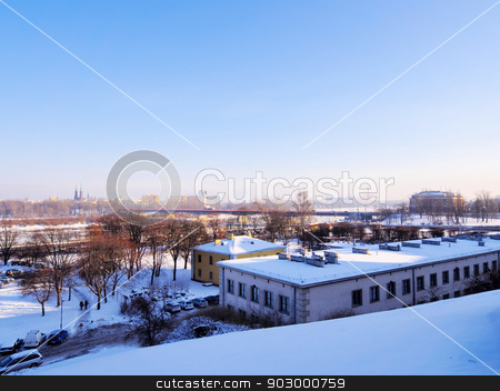 Winter in Warsaw stock photo, Winter in Warsaw - capital city of Poland. by Karol Kozlowski