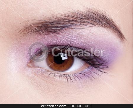 Female eye stock photo, Close-up of a beautiful female eye make-up by ikostudio