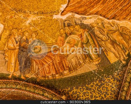 Mosaic in Chora Church stock photo, Christian Mosaic in Istanbul Chora Church  by Scott Griessel