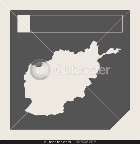 Afghanistan map button stock photo, Afghanistan map button in responsive flat web design map button isolated with clipping path. by Martin Crowdy