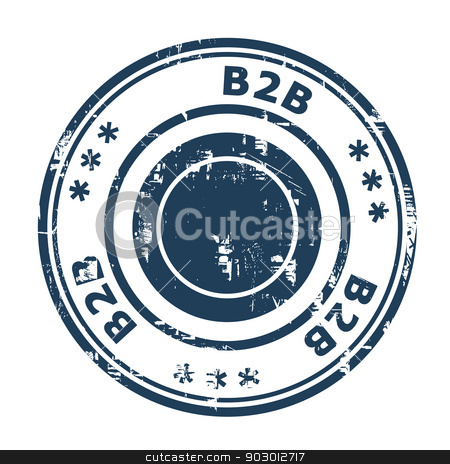 B2B concept stamp stock photo, B2B concept stamp concept stamp isolated on a white background. by Martin Crowdy