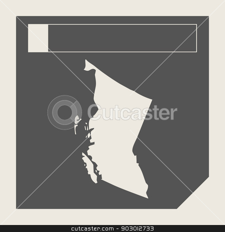 British Columbia state in Canada stock photo, British Columbia state in Canada responsive flat web design map button isolated with clipping path. by Martin Crowdy
