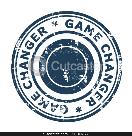 Game Changer business stamp stock photo, Game Changer business stamp isolated on a white background. by Martin Crowdy