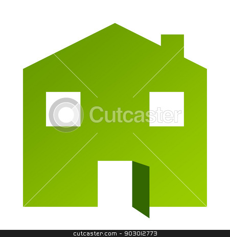 Green house with open door stock photo, Green house or home with open door by Martin Crowdy