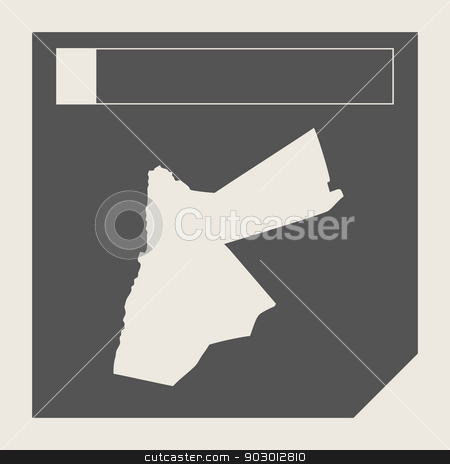 Jordan map button stock photo, Jordan map button in responsive flat web design map button isolated with clipping path. by Martin Crowdy