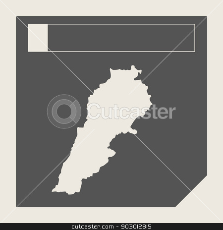 Lebanon map button stock photo, Lebanon map button in responsive flat web design map button isolated with clipping path. by Martin Crowdy