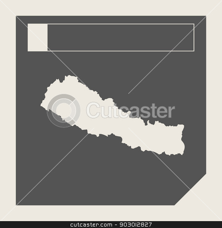 Nepal map button stock photo, Nepal map button in responsive flat web design map button isolated with clipping path. by Martin Crowdy