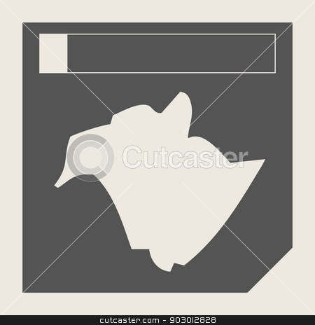 New Brunswick state in Canada stock photo, New Brunswick state in Canada responsive flat web design map button isolated with clipping path. by Martin Crowdy