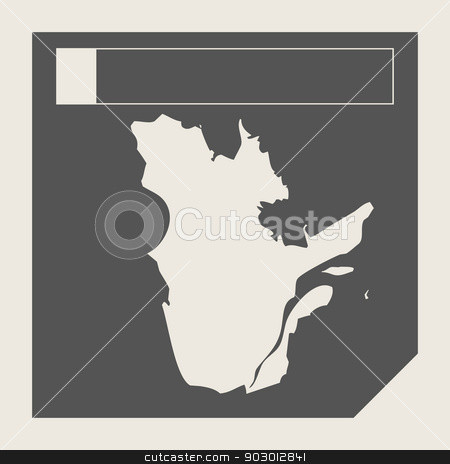 Quebec state in Canada stock photo, Quebec state in Canada responsive flat web design map button isolated with clipping path. by Martin Crowdy
