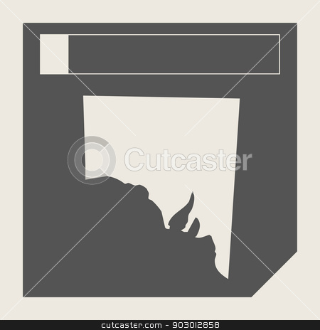Southern Australia map button stock photo, Southern Australia map button in responsive flat web design isolated with clipping path. by Martin Crowdy