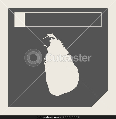 Sri Lanka map button stock photo, Sri Lanka map button in responsive flat web design map button isolated with clipping path. by Martin Crowdy